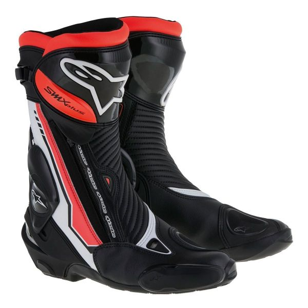 Cizme Moto - Dama Alpinestars Cizme Racing SMX Plus Black/Red/White