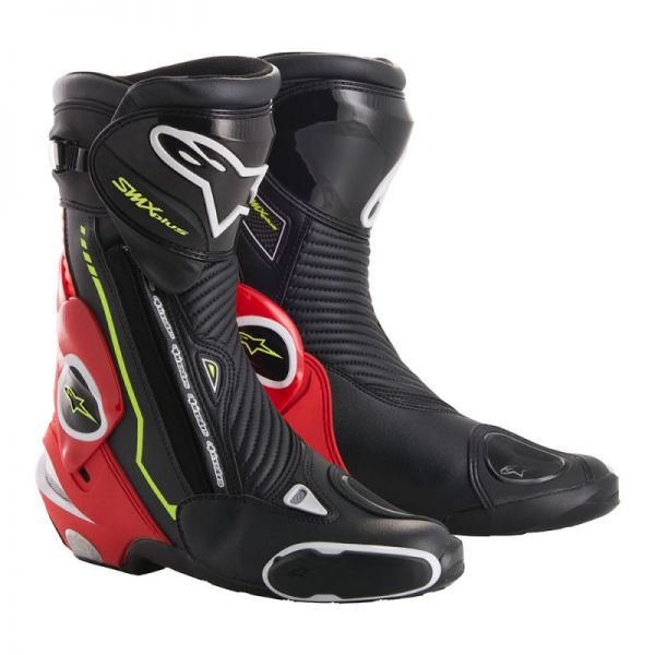 Cizme Moto - Dama Alpinestars Cizme Racing SMX Plus Black/Red/Yellow