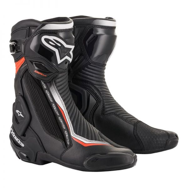 Cizme Moto Sport Alpinestars Cizme Racing SMX Plus V2 Black/White/Red 2020