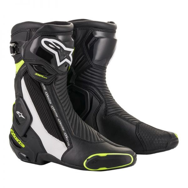 Cizme Moto Sport Alpinestars Cizme Racing SMX Plus V2 Black/White/Yellow 2020