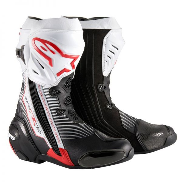 Cizme Moto Sport Alpinestars Cizme Racing Supertech R Black/Red/White 2020