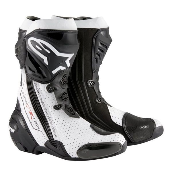 Cizme Moto Sport Alpinestars Cizme Racing Supertech R Black/White Vented