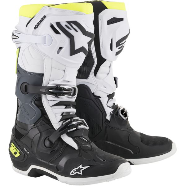 Cizme MX-Enduro Alpinestars Cizme Tech 10 Black/White/Yellow 2020