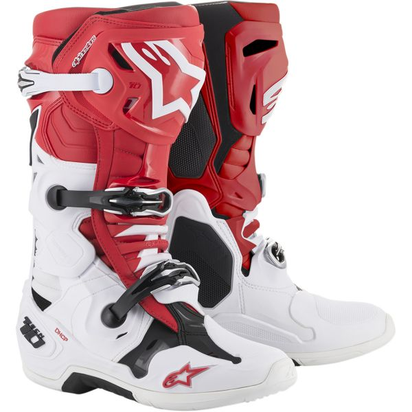 Cizme MX-Enduro Alpinestars Cizme Tech 10 Red/White/Black 2020