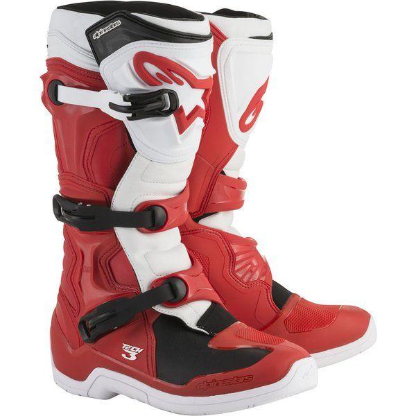 Cizme MX-Enduro Alpinestars Cizme Tech 3 Red/White/Black