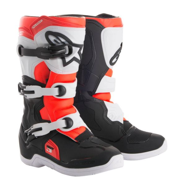 Cizme MX-Enduro Copii Alpinestars Cizme Tech 3S Black/White/Red Copii Mici