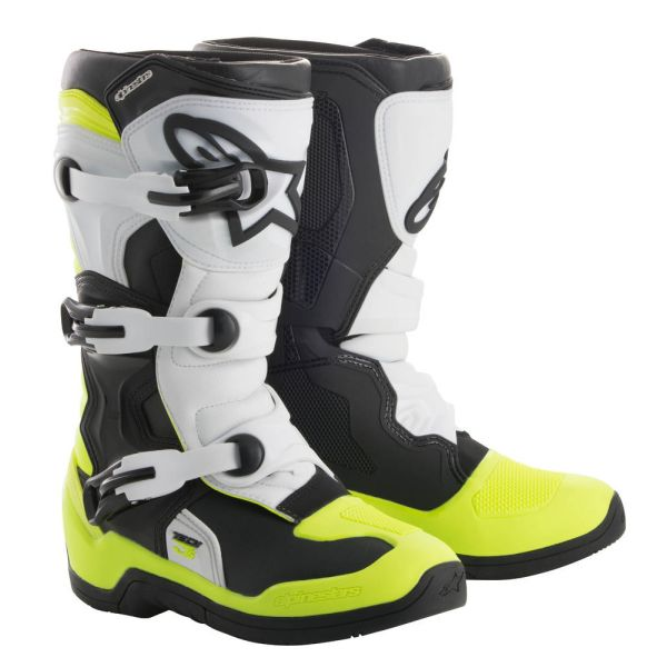 Cizme MX-Enduro Copii Alpinestars Cizme Tech 3S Black/White/Yellow Copii Mici