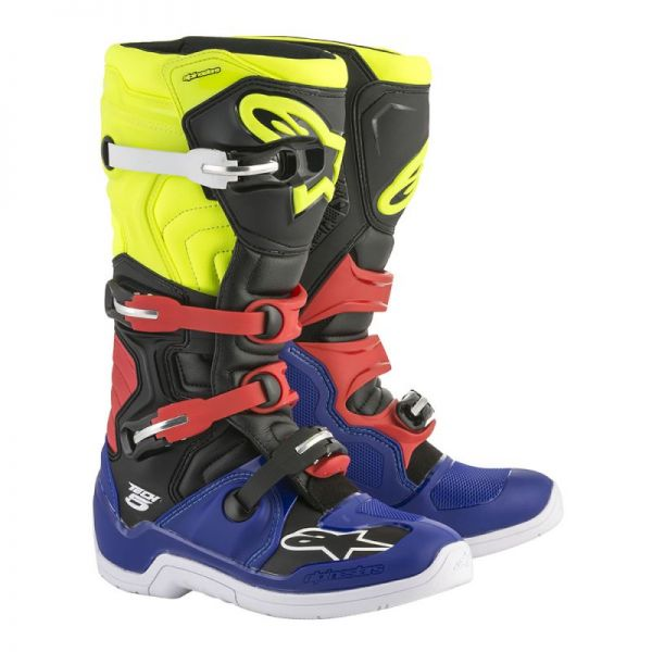 Cizme MX-Enduro Alpinestars Cizme Tech 5 Blue/Black/Yellow/Red 2019
