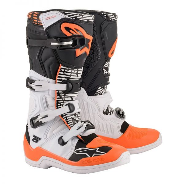 Cizme MX-Enduro Alpinestars Cizme Tech 5 White Gray/Orange 2020
