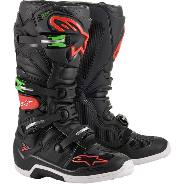 Cizme MX-Enduro Alpinestars Cizme Tech 7 Black/Red/Green 2020