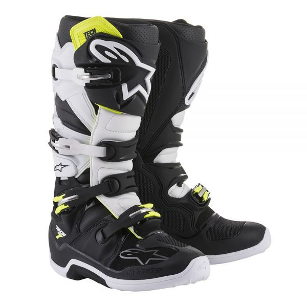 Cizme MX-Enduro Alpinestars Cizme Tech 7 Black/White 2019