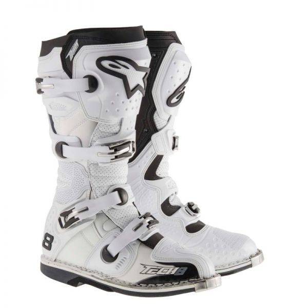 Cizme MX-Enduro Alpinestars Cizme Ventilate Tech 8 RS White 2019