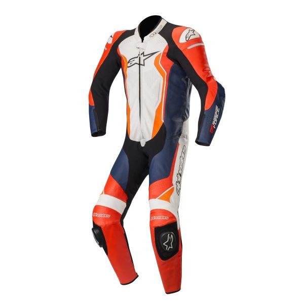 Combinezoane Moto Piele Alpinestars Combinezon 1 PC GP Pro Force Red/Blue/White/Orange Fluo 2020