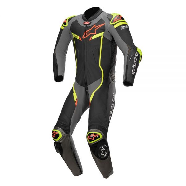 Combinezoane Moto Piele Alpinestars Combinezon Piele 1 PC GP Pro V2 PC Tech-Air Compatible Black/Gray/Green