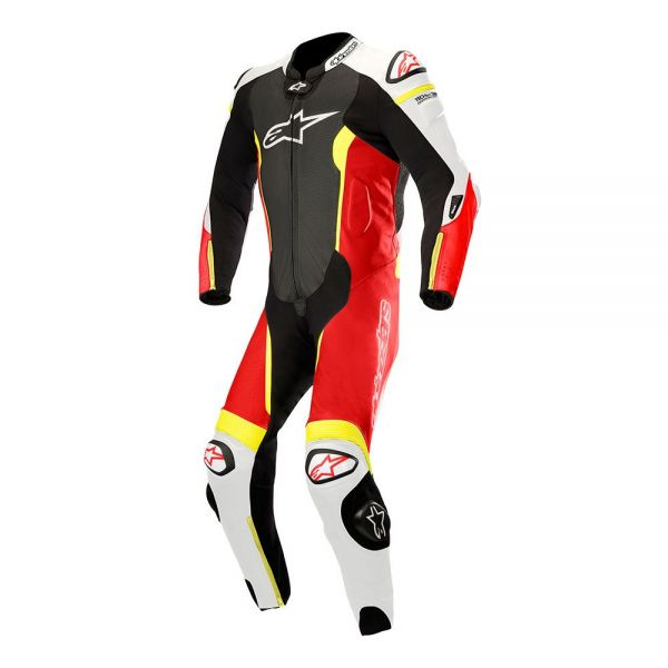 Alpinestars Combinezon Piele 1 PC Missile Tech-Air Compatible Black/Red/Yellow