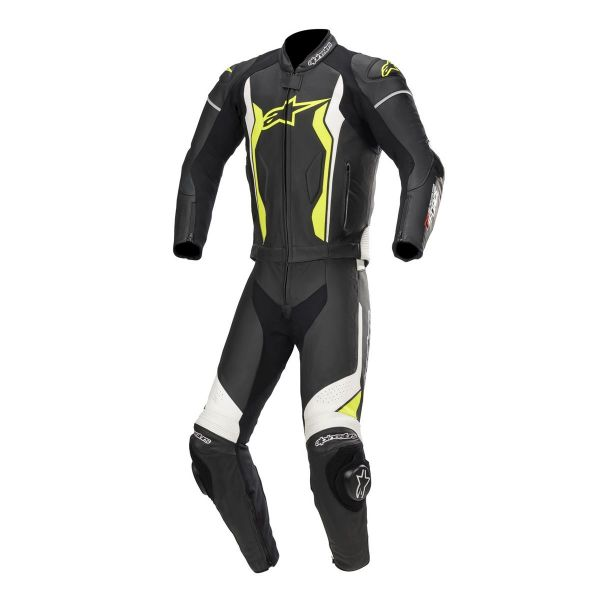 Combinezoane Moto Piele Alpinestars Combinezon Piele 2 PC GP Force Black/White/Yellow 2020