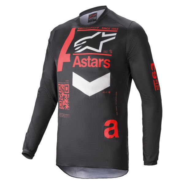Tricouri MX-Enduro Alpinestars Fluid Chaser MX Jersey Black/Red 2021