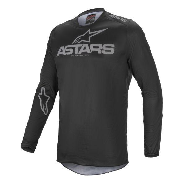 Tricouri MX-Enduro Alpinestars Fluid Graphite MX Jersey Black/Grey 2021