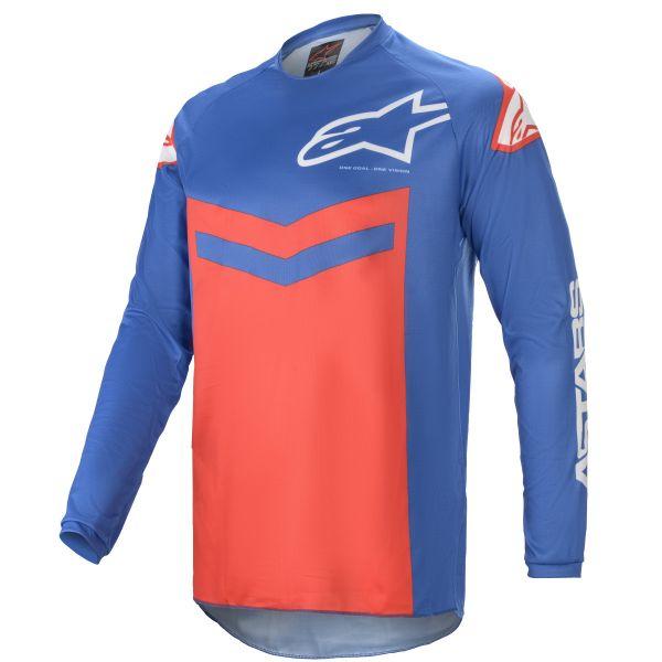 Tricouri MX-Enduro Alpinestars Fluid Speed MX Jersey Blue/Red 2021