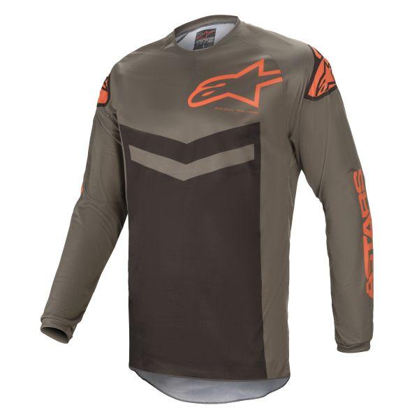 Tricouri MX-Enduro Alpinestars Fluid Speed MX Jersey Grey/Orange 2021