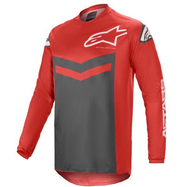 Tricouri MX-Enduro Alpinestars Fluid Speed MX Jersey Red/Anthracite 2021