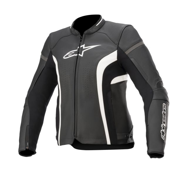 Geci Moto Piele - Dama Alpinestars Geaca Moto Dama Stella Kira v2 Leather Black/White 2021