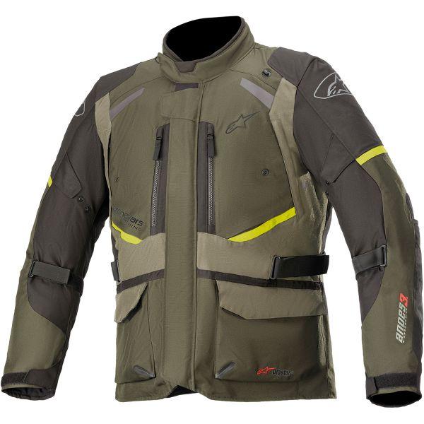 Geci Moto Textil Alpinestars Geaca Moto Textila Andes Drystar v3 Green 2021