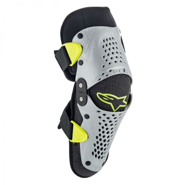 Protectii MX-Enduro Copii Alpinestars Genunchiere SX-1 Black/Silver/Yellow 2019 Copii