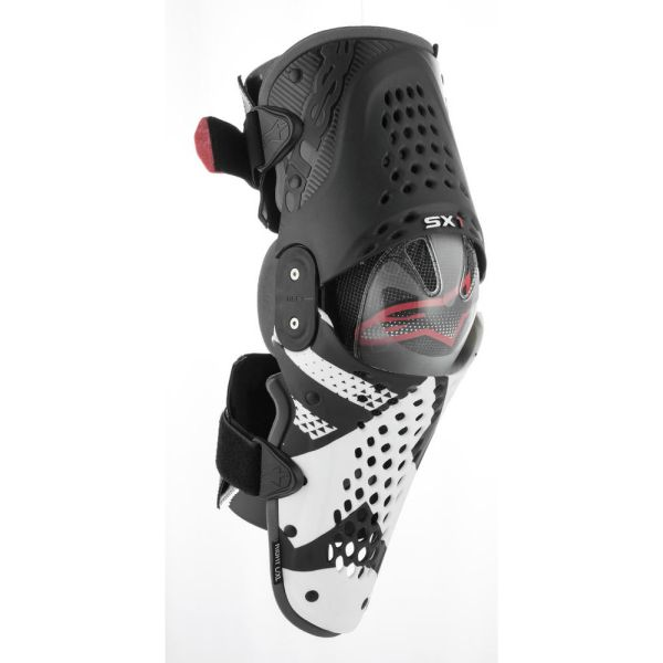 Genunchiere si Orteze Alpinestars Genunchiere SX-1 Black/White/Red 2019