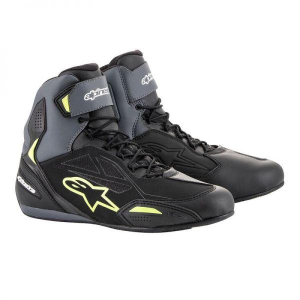 Cizme Moto Scurte Alpinestars Ghete Faster 3 Black/Yellow Drystar WP