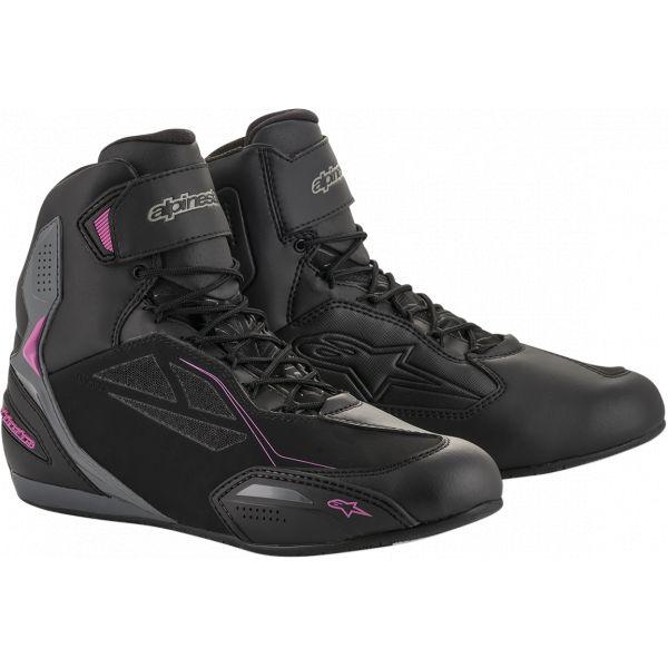 Cizme Moto - Dama Alpinestars Ghete Moto Dama Stella Faster 3 Drystar Shoes Black/Pink 2021