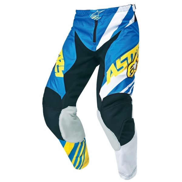 Pantaloni MX-Enduro Copii Alpinestars LICHIDARE STOC Pantaloni Copii Racer Albastru/Galben/Alb