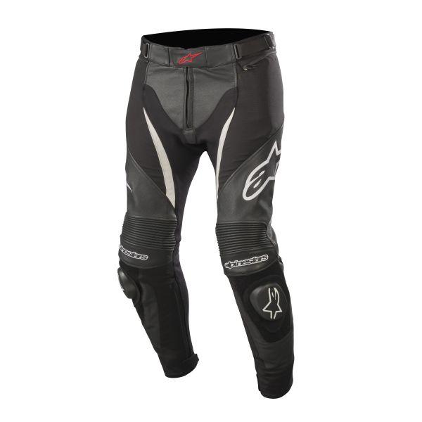 Pantaloni Piele Alpinestars LICHIDARE STOC Pantaloni Piele/Textil SP X Sport Black/White