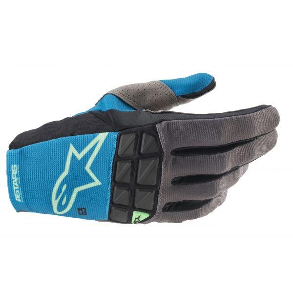 Manusi MX-Enduro Alpinestars Manusi MX Racefend Albastru/Verde 2021