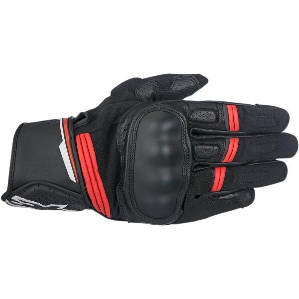 Manusi Sport si Piele Alpinestars Manusi Piele Booster Black/Red 2020