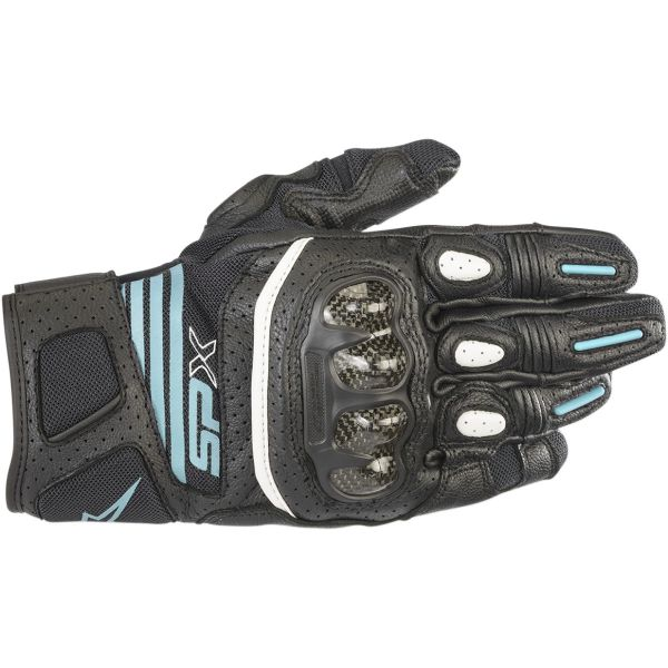 Alpinestars Manusi Piele Dama Stella SP X Air Carbon V2 Black/Teal 2020