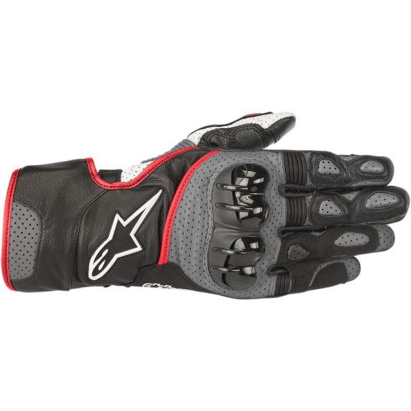 Manusi Sport si Piele Alpinestars Manusi Piele SP-2 V2  Black/Gray/Red 2020