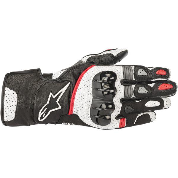 Manusi Sport si Piele Alpinestars Manusi Piele SP-2 V2  Black/White/Red 2020