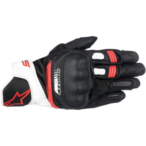 Manusi Sport si Piele Alpinestars Manusi Piele SP-5 V2 Black/White/Red 2020
