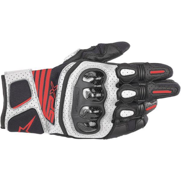 Manusi Sport si Piele Alpinestars Manusi Piele SP X Air Carbon V2 Black/White/Red 2020
