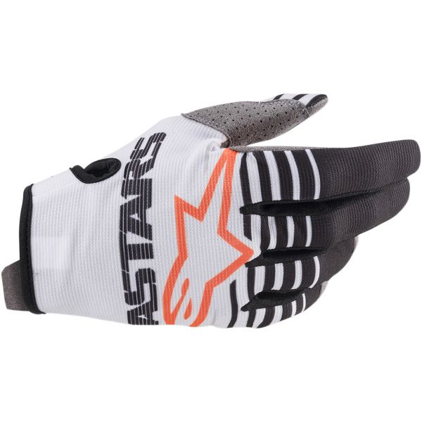 Manusi MX-Enduro Alpinestars Manusi Radar S20 White/Black