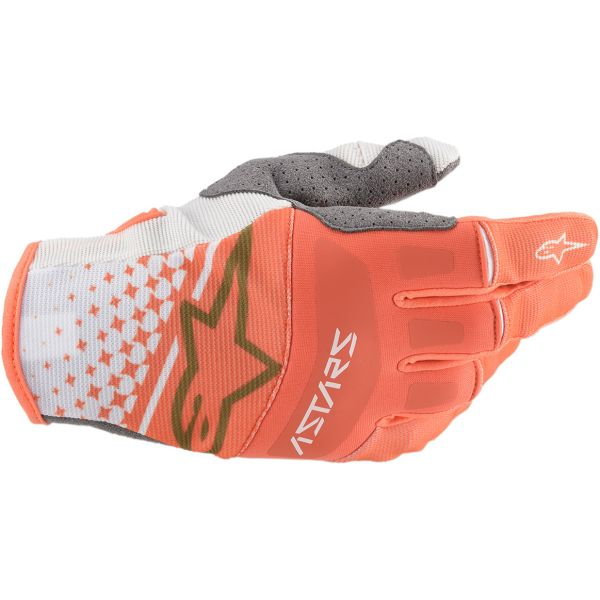 Manusi MX-Enduro Alpinestars Manusi Techstar S20 White/Orange