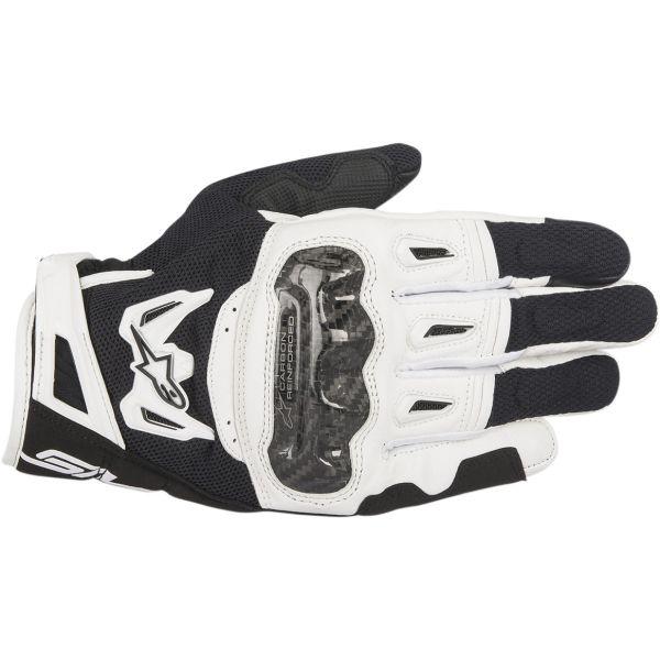 Manusi Sport si Piele Alpinestars Manusi Textile SMX-2 Air Carbon V2 Black/White 2020