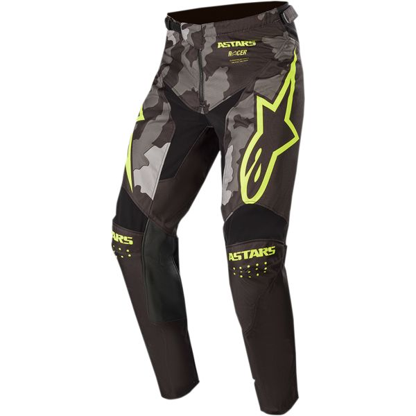 Pantaloni MX-Enduro Copii Alpinestars Pantaloni Copii Racer Tactical S20 Camo/Yellow