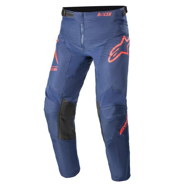 Pantaloni MX-Enduro Copii Alpinestars Pantaloni MX Copii Racer Braap Albastru/Rosu 2021
