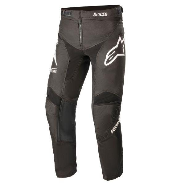 Pantaloni MX-Enduro Copii Alpinestars Pantaloni MX Copii Racer Braap Negru/Alb 2021