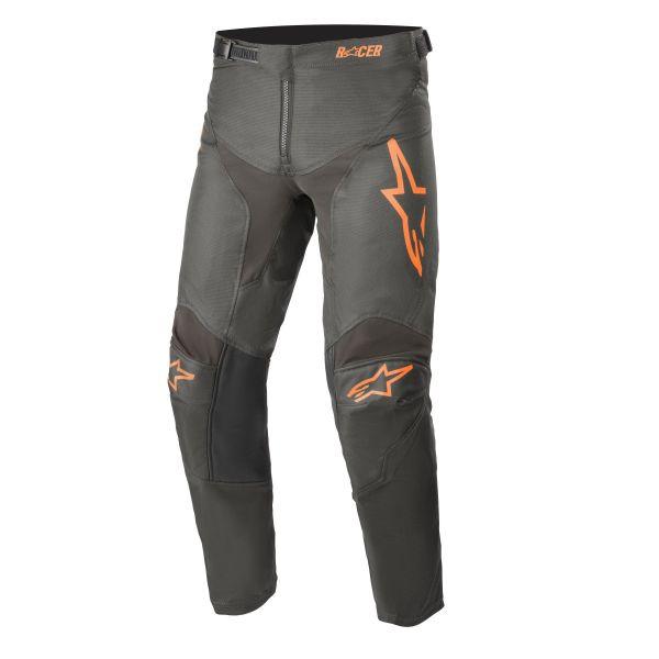 Pantaloni MX-Enduro Copii Alpinestars Pantaloni MX Copii Racer Compass Antracit/Portocaliu 2021