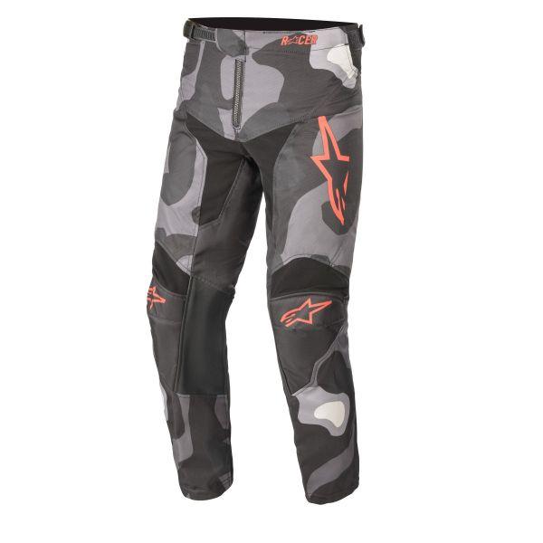Pantaloni MX-Enduro Copii Alpinestars Pantaloni MX Copii Racer Tactical Gri Camuflaj/Rosu 2021