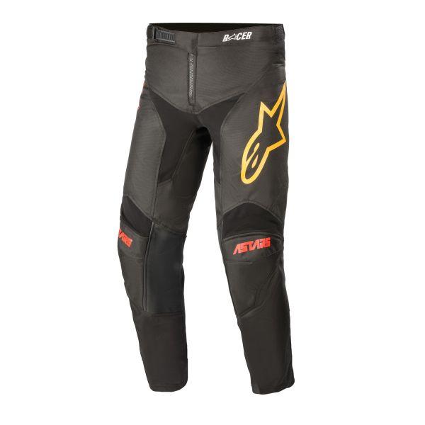Pantaloni MX-Enduro Copii Alpinestars Pantaloni MX Copii Racer Venom Negru/Rosu/Portocaliu 2021