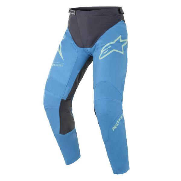 Pantaloni MX-Enduro Alpinestars Pantaloni MX Racer Braap Albastru/Verde 2021